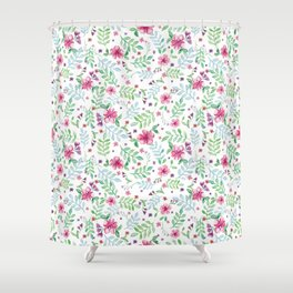 White spring Shower Curtain