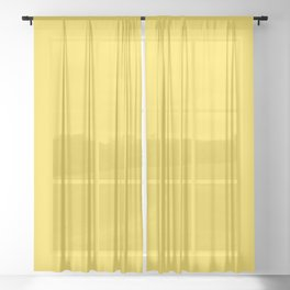 Butter Yellow - Solid Color Collection Sheer Curtain