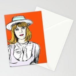 Pauline on Orange Stationery Cards