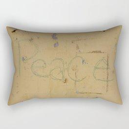 Peace Grafitti Rectangular Pillow