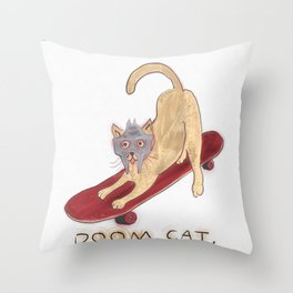 DOOM CAT X 606. Throw Pillow