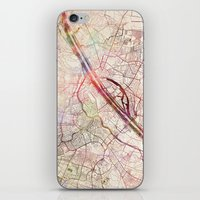 vienna iPhone & iPod Skins featuring Vienna by MapMapMaps.Watercolors