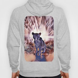 Black Panther Fire Cat Hoody