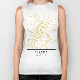 VIENNA AUSTRIA CITY STREET MAP ART Biker Tank