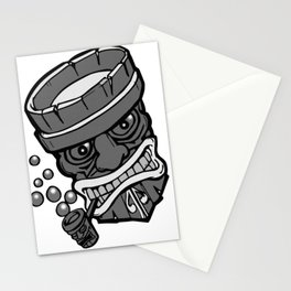 Dots n tikis n pipe Stationery Cards