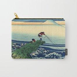 "Hokusai (1760-1849)  ""Kajikazawa in Kai Province"" Carry-All Pouch"