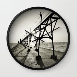 Grand Haven Pier Wall Clock