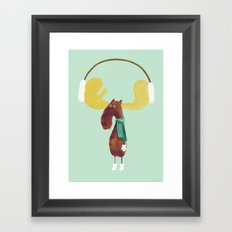 This moose is ready for winter Framed Art Print