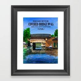 Covered Bridge #65 Framed Art Print