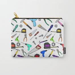 Fun Cartoon Tools Hardware Illustration Pattern Carry-All Pouch