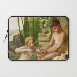 12,000pixel-500dpi - Jean-Francois Millet - Spring, Daphnis And Chloe - Digital Remastered Edition Laptop Sleeve