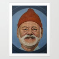 steve zissou Art Prints featuring Steve Zissou  by scottmitchell