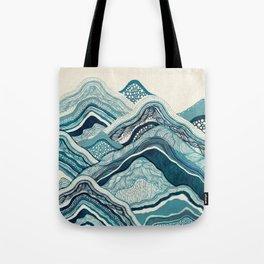 Blue Hike Tote Bag