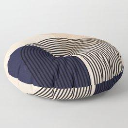 Abstraction_NEW_SUN_SHAPE_MOUNTAINS_LINE_POP_ART_M0202A Floor Pillow