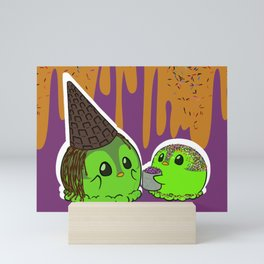 Penguinscoops - Waffle Witch Hat Mini Art Print