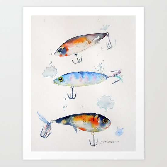 Fishing is Fly No1 Art Print