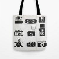 camera Tote Bags featuring Camera by Molnár Roland