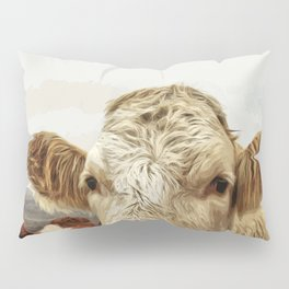A cow greeting is like no other Pillow Sham