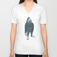 bigfoot V-neck T-shirts featuring Bigfoot by Mason W