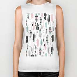 Arrows and feathers summer pattern Biker Tank