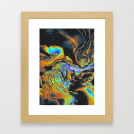BLUE SUPREME VULNERABILITY Framed Art Print