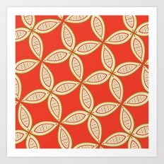Christmas Tapestry: Red Art Print
