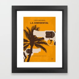 No866 My LA Confidential minimal movie poster Framed Art Print