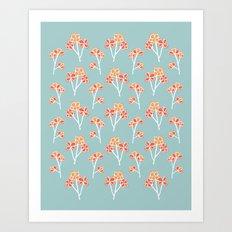 anemone flowers :: sea mist Art Print