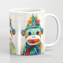 Sock Monkey Art - Your New Best Friend - By Sharon Cummings Coffee Mug