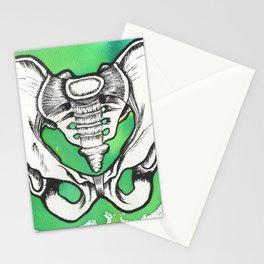 Watercolor and ink pelvis Stationery Cards
