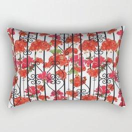 Geraniums Rectangular Pillow