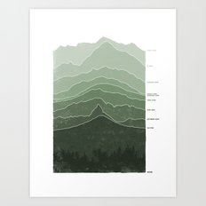 Above Sea Level Art Print