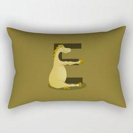 Pony Monogram Letter E Rectangular Pillow