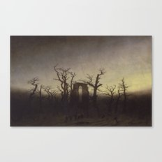 Abbey among Oak Trees by Caspar David Friedrich Canvas Print