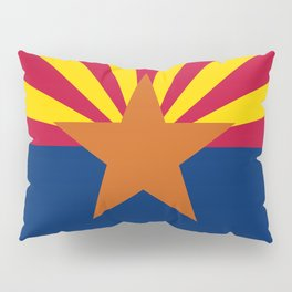 Arizona State flag, Authentic version - color and scale Pillow Sham