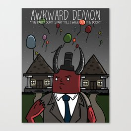 Awkward Party Poster Canvas Print