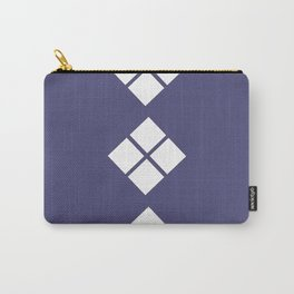 Geometrical violet white abstract ethno pattern Carry-All Pouch