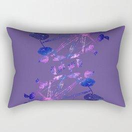 Galaxy Fair Ride. Pantone Color of 2018: Ultra Violet Rectangular Pillow
