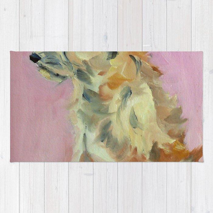 Marvelous Mystery Mutt Dog Portrait Rug