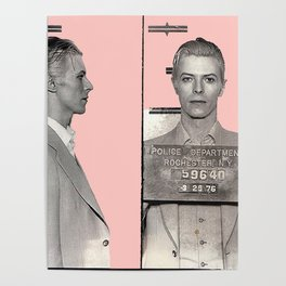 PINKY BOWIE ARRESTED Poster