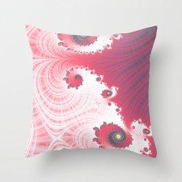 Strawberry Cream - Fractal Art Throw Pillow