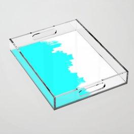Shiny Turquoise balance Acrylic Tray