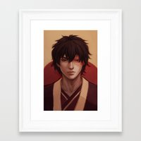 zuko Framed Art Prints featuring Zuko by Nymre