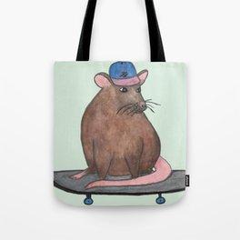 Skateboard Rat I Tote Bag