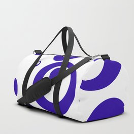 Circles Dots Bubbles :: Blueberry Inverse Duffle Bag