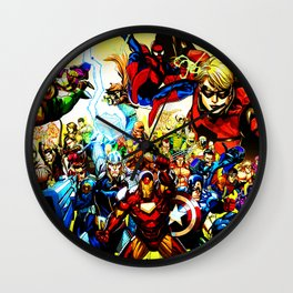 super hero full power Wall Clock