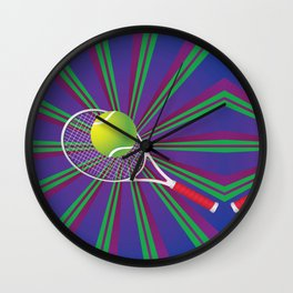 Tennis Ball and Racket Wall Clock