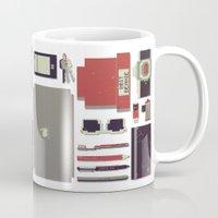 8bit Mugs featuring 8Bit Handbag by Thecansone