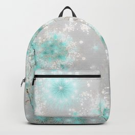 Dandelions in Turquoise Backpack