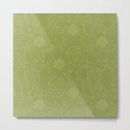 Green Australian Botanicals Metal Print
